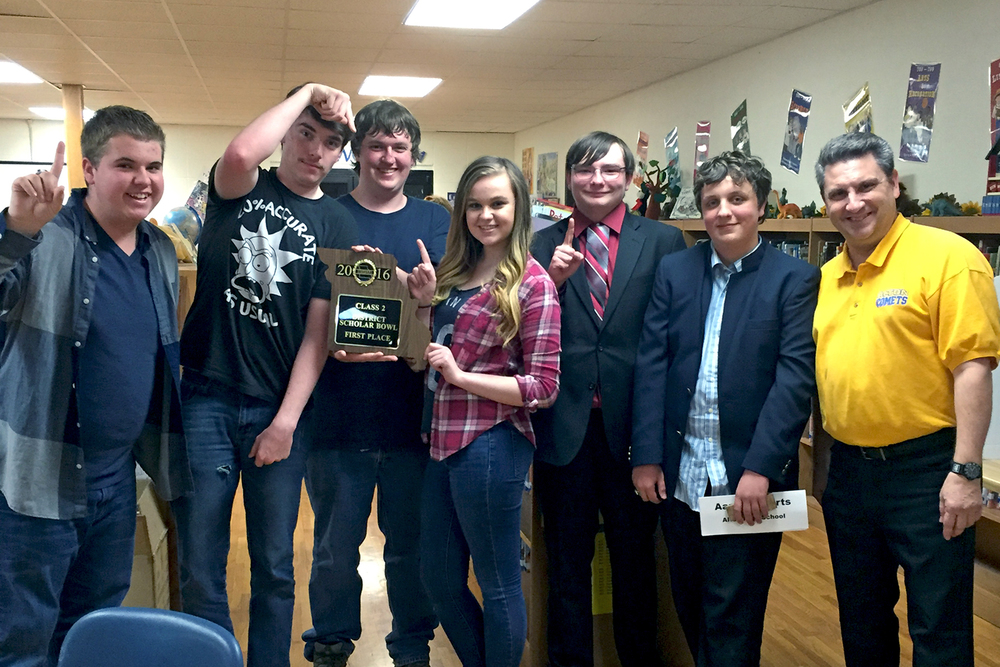 Scholar Bowl Team Takes First in District Tournament